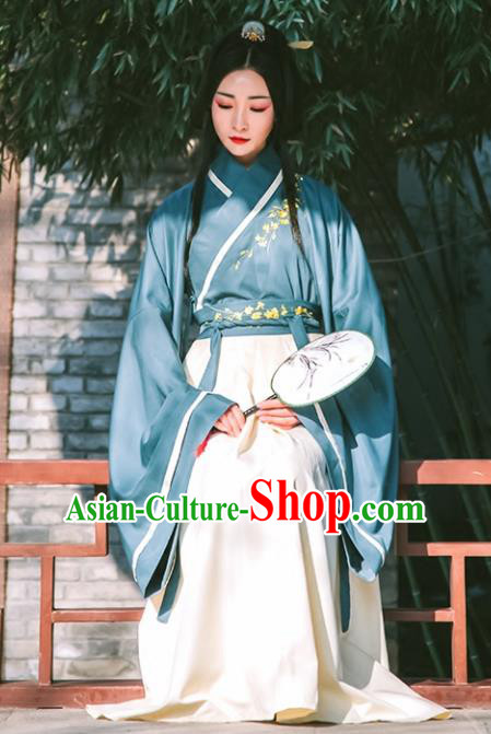 Chinese Han Dynasty Princess Hanfu Dress Ancient Drama Peri Embroidered Costumes for Women