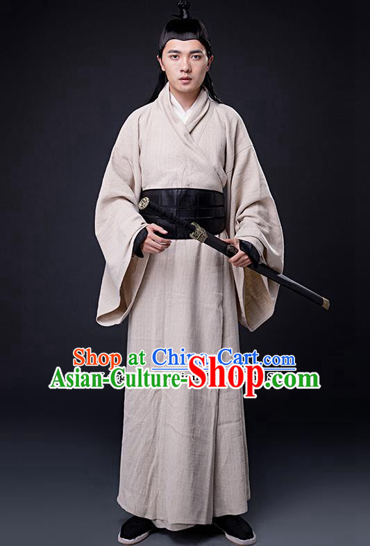 Chinese Ancient Drama Three Kingdoms Period Swordsman Costumes for Men