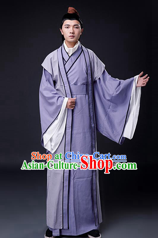 Chinese Ancient Drama Han Dynasty Confucian Scholar Costumes for Men
