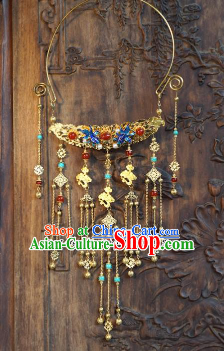 chinese Traditional Blueing Necklace Ancient Bride Jewelry Accessories for Women