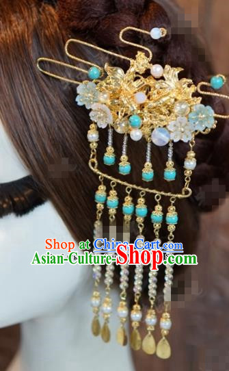Chinese Ancient Hair Jewelry Accessories Queen Tassel Hairpins Hair Stick for Women