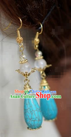 chinese Traditional Earrings Ancient Bride Hanfu Jewelry Accessories for Women