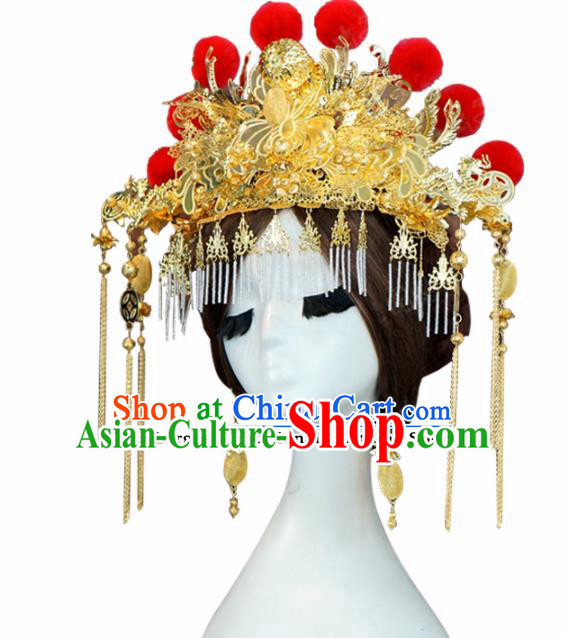 Chinese Ancient Wedding Queen Phoenix Coronet Hair Jewelry Accessories Hairpins for Women