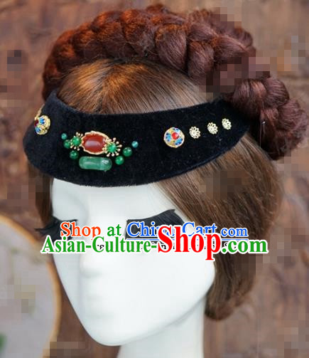 Chinese Ancient Qing Dynasty Empress Hair Clasp Wedding Bride Headdress for Women