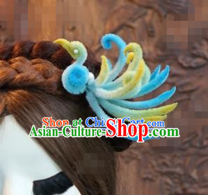 Chinese Ancient Qing Dynasty Empress Hair Clip Palace Phoenix Hairpins for Women