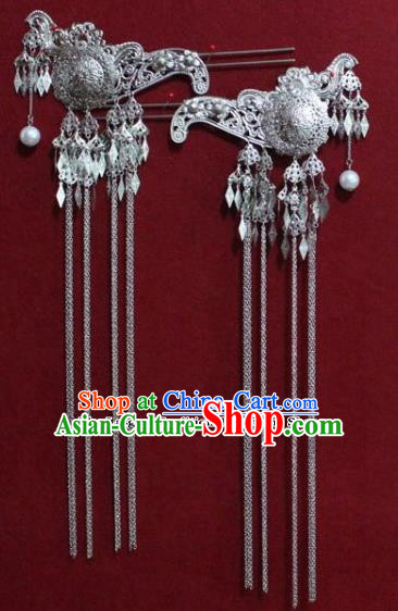 Chinese Ancient Tang Dynasty Queen Hair Accessories Tassel Step Shake Hairpins for Women
