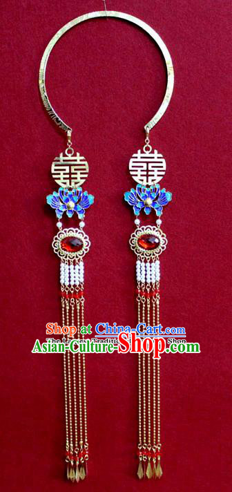 Chinese Traditional Classical Jewelry Accessories Ancient Princess Cloisonne Necklace for Women