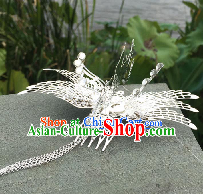 Chinese Ancient Tang Dynasty Princess Hair Accessories Phoenix Hair Comb Hairpins for Women