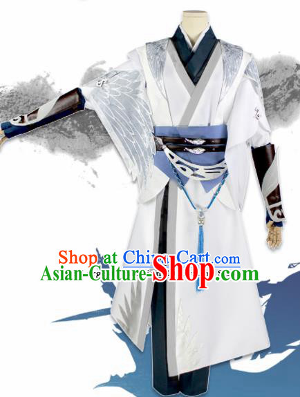 Chinese Traditional Cosplay Young Hero Blades Costumes Ancient Swordsman Clothing for Men