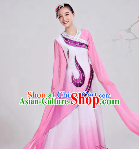 Chinese Traditional Folk Dance Costumes Classical Dance Water Sleeve Dress for Women