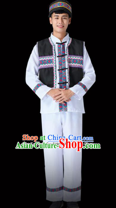 Chinese Traditional Miao Minority Folk Dance Clothing Ethnic Dance Costumes for Men