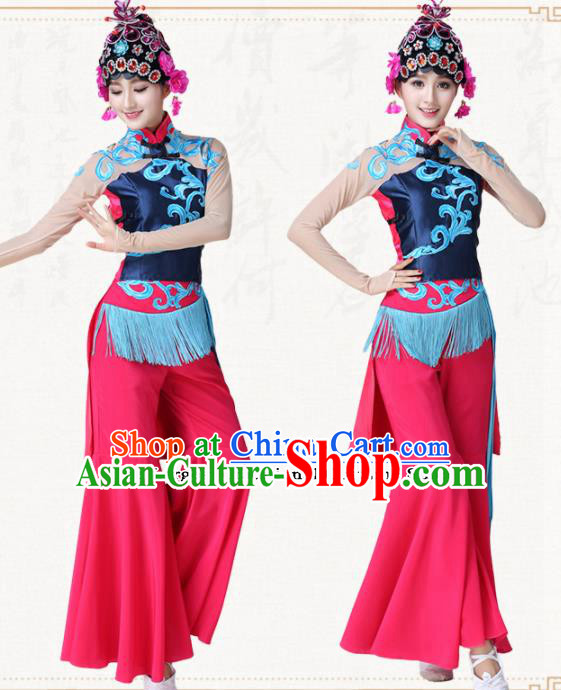 Chinese Traditional Classical Dance Folk Dance Clothing Group Dance Costumes for Women