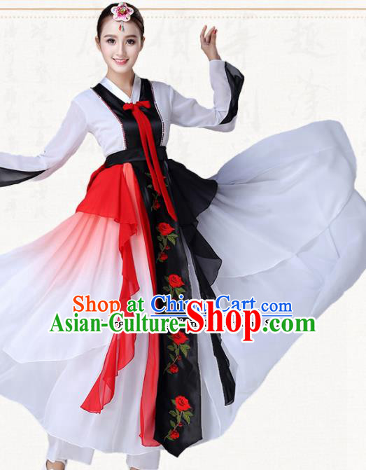 Traditional Chinese Korean Nationality Dress Ethnic Dance Folk Dance Costumes for Women