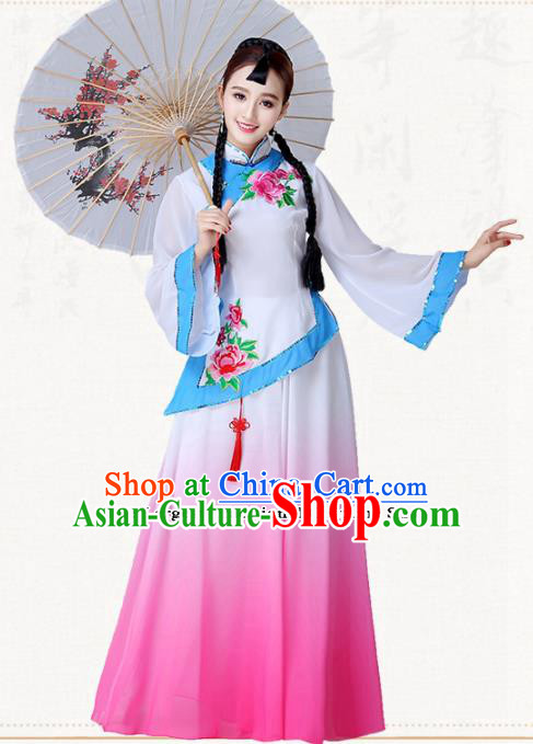 Chinese Traditional Classical Dance Umbrella Dance Dress Group Dance Costumes for Women