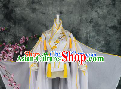 Traditional Chinese Embroidered Costumes Ancient Swordsman Hanfu Clothing for Men