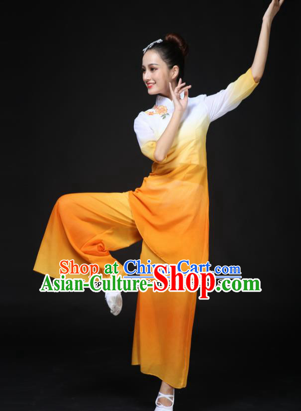 Traditional Chinese Classical Dance Costumes Fan Dance Umbrella Dance Clothing for Women