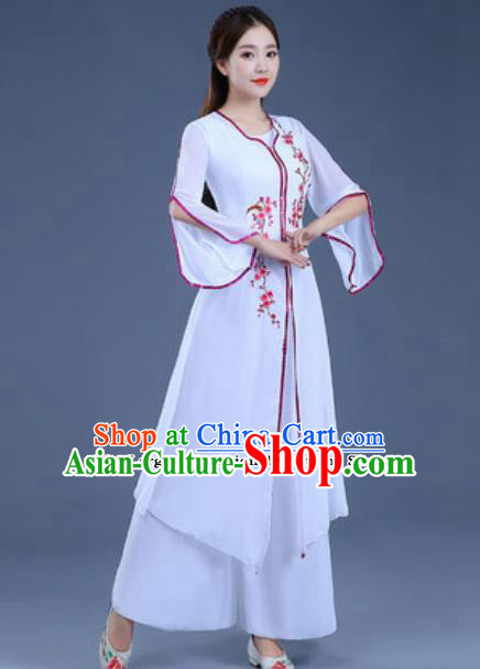 Traditional Chinese Classical Dance Group Dance Dress Umbrella Dance Clothing for Women