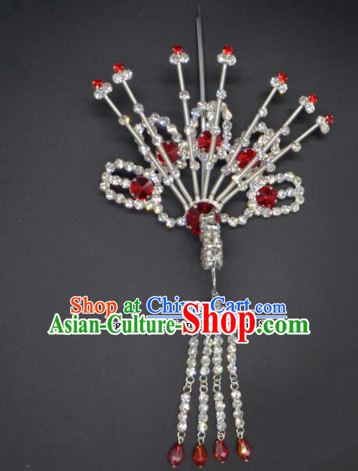 Traditional Chinese Beijing Opera Hair Accessories Ancient Princess Phoenix Tassel Hairpins for Women