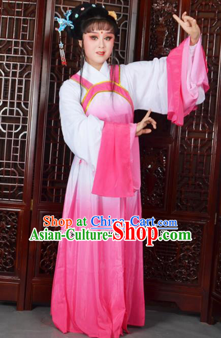 Traditional Chinese Beijing Opera Actress Costumes Ancient Peri Pink Dress for Adults