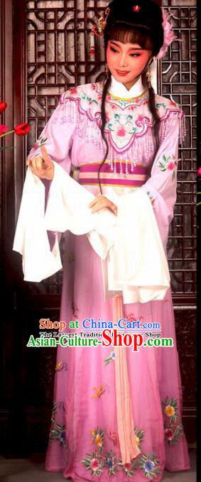 Traditional Chinese Peking Opera Actress Costumes Ancient Peri Princess Pink Dress for Adults