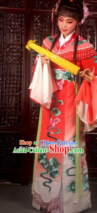 Traditional Chinese Peking Opera Imperial Consort Costumes Ancient Peri Red Dress for Adults