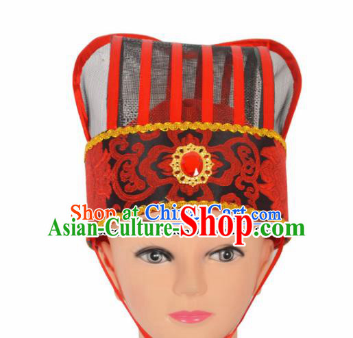 Professional Chinese Peking Opera Niche Hats Ancient Childe Headwear for Men