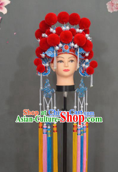 Traditional Chinese Peking Opera Diva Hair Accessories Ancient Princess Phoenix Coronet Headwear for Women
