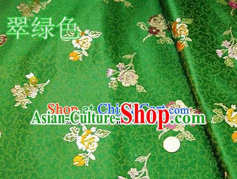 Traditional Chinese Royal Pattern Green Brocade Tang Suit Fabric Silk Fabric Asian Material