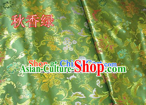 Traditional Chinese Light Green Brocade Tang Suit Palace Fabric Silk Fabric Asian Material