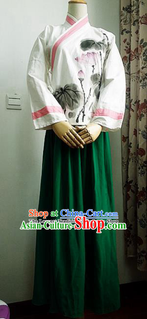 Chinese Ancient Ming Dynasty Costumes Traditional Hanfu Dress for Women