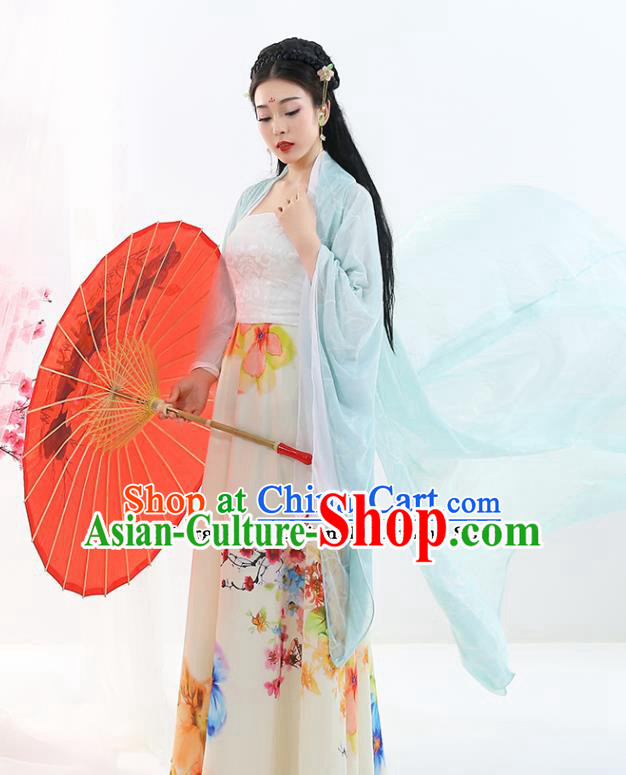 Chinese Traditional Ancient Drama Peri Court Lady Hanfu Dress Tang Dynasty Imperial Concubine Costumes for Women