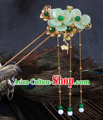 Chinese Traditional Hair Accessories Tassel Hair Clip Ancient Princess Flowers Hairpins for Women