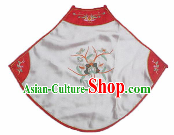 Chinese Traditional Underwear Ancient Costume Embroidered White Bellyband for Women