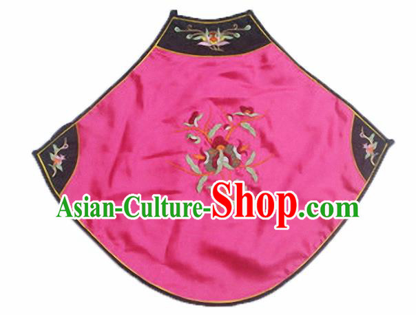 Chinese Traditional Underwear Ancient Costume Embroidered Rosy Bellyband for Women
