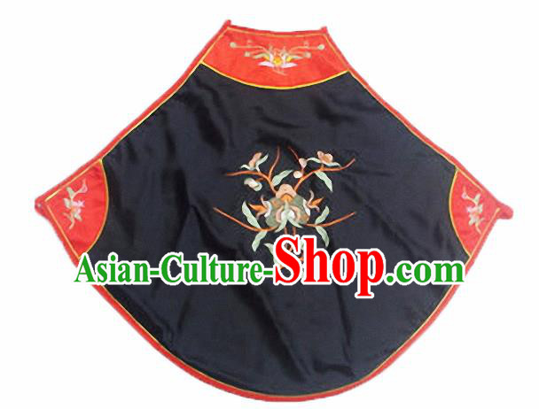 Chinese Traditional Underwear Ancient Costume Embroidered Black Bellyband for Women