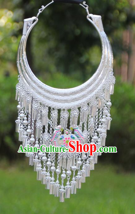 Chinese Traditional Ethnic Bride Accessories Yunnan Minority Necklace for Women