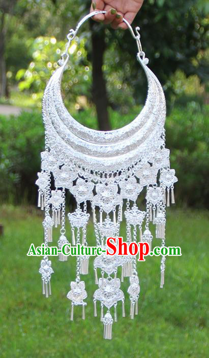 Chinese Traditional Ethnic Bride Accessories Yunnan Minority Flowers Tassel Necklace for Women