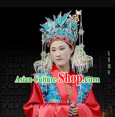 Chinese Traditional Wedding Hair Accessories Ancient Ming Dynasty Empress Phoenix Coronet for Women