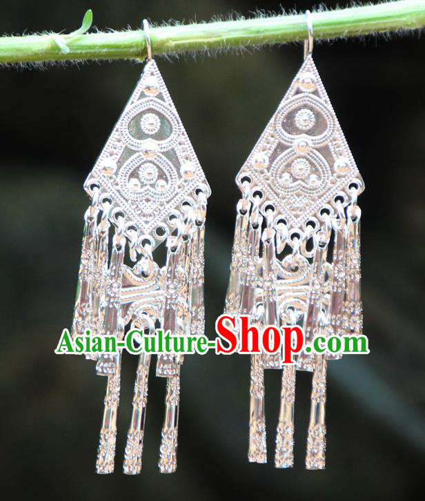 Chinese Traditional Ethnic Earrings Yunnan National Minority Ear Accessories for Women