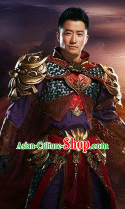 Ancient Chinese General Armor Costumes Complete Set