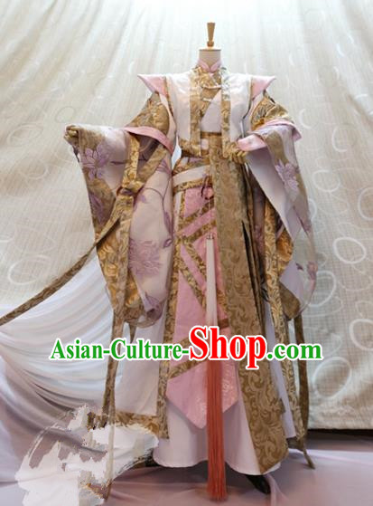 Traditional China Ancient Cosplay Swordswoman Clothing Tang Dynasty Palace Princess Costumes for Women