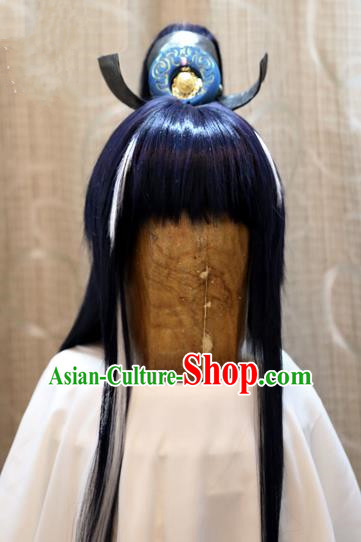 China Ancient Tang Dynasty Cosplay Swordsman Hair Accessories Wig Sheath