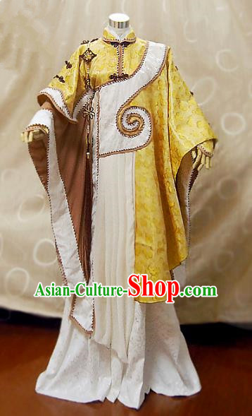 Ancient China Cosplay Han Dynasty Taoist Priest Costumes Swordsman Clothing for Men