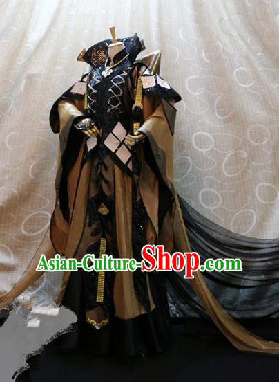 Ancient China Cosplay Royal Emperor Costumes Swordsman Clothing for Men