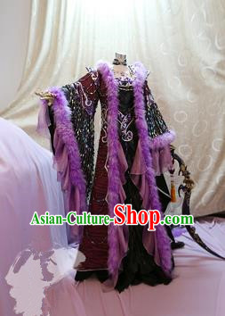 China Ancient Cosplay Swordswoman Clothing Traditional Imperial Concubine Dress Clothing for Women