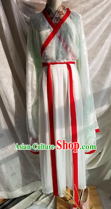 Ancient Chinese Jin Dynasty Palace Lady Costume, China Ancient Princess Clothing for Women