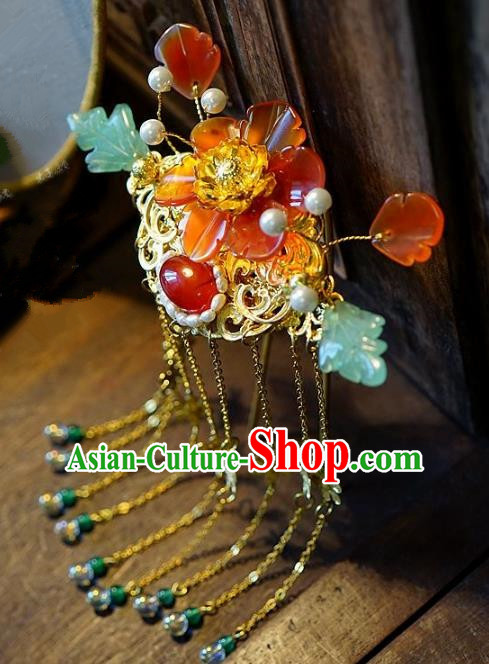 Chinese Handmade Classical Hair Accessories Ancient Hairpins Tassel Hair Clip for Women