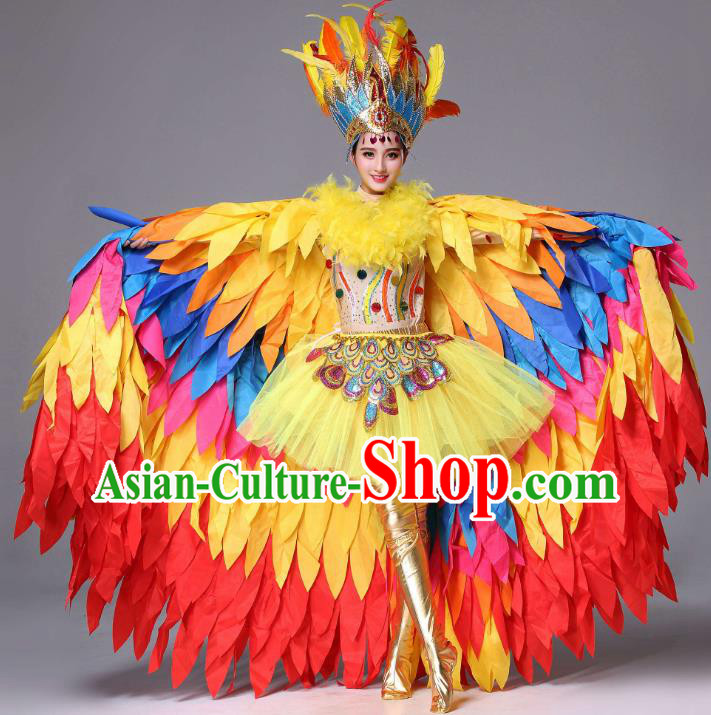 Professional Modern Dance Stage Performance Costume, Classical Opening Dance Dress for Women