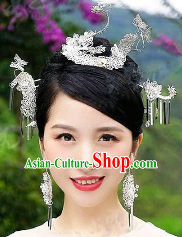 Chinese Handmade Classical Wedding Hairpins Ancient Hanfu Hair Accessories Step Shake for Women