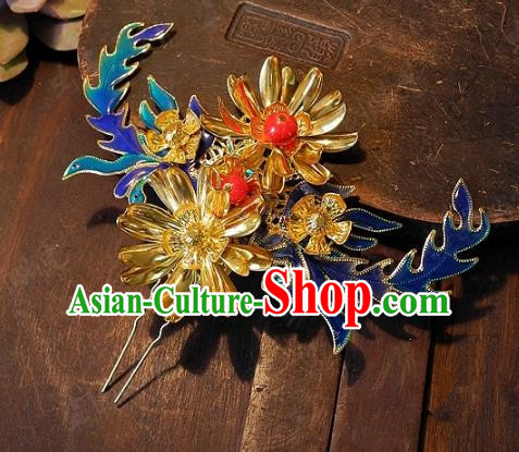 Chinese Handmade Classical Wedding Hairpins Ancient Hanfu Hair Accessories Hair Stick for Women